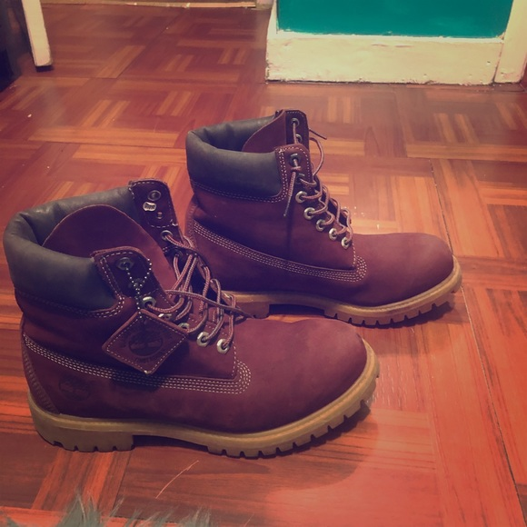Universidad crisis puesto  Timberland Shoes | Mens Burgundy Timberland Boots Size 9 | Poshmark